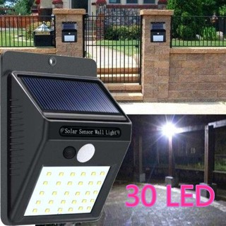 Lampu Led Sensor Matahari Solar Powered 30 Led Wall Light Shopee Indonesia