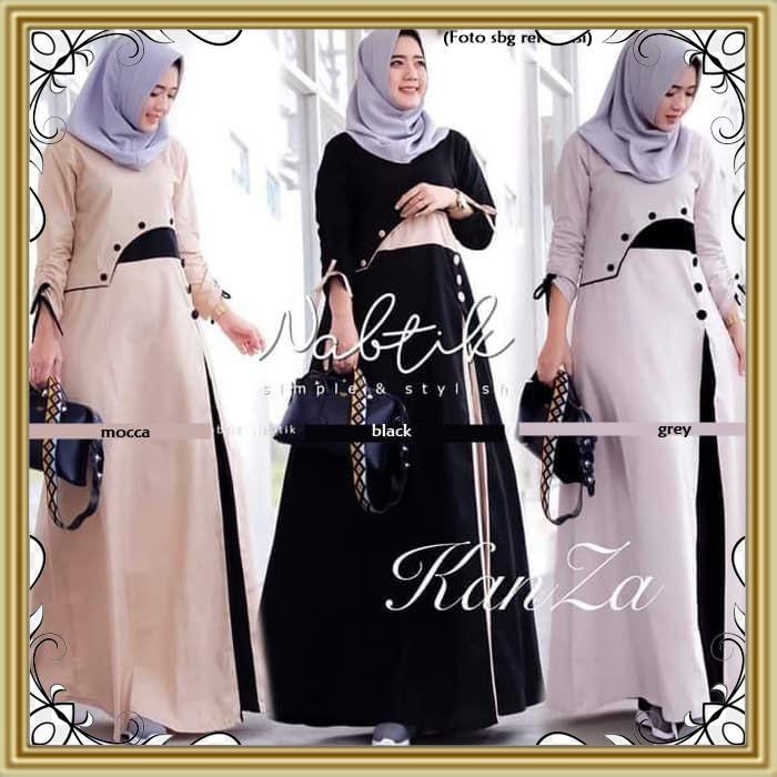 71 Kanza Dress Baju Wanita Muslim Kekinian Terkini Busana Muslim Pakaian Murah Wanita Shopee Indonesia