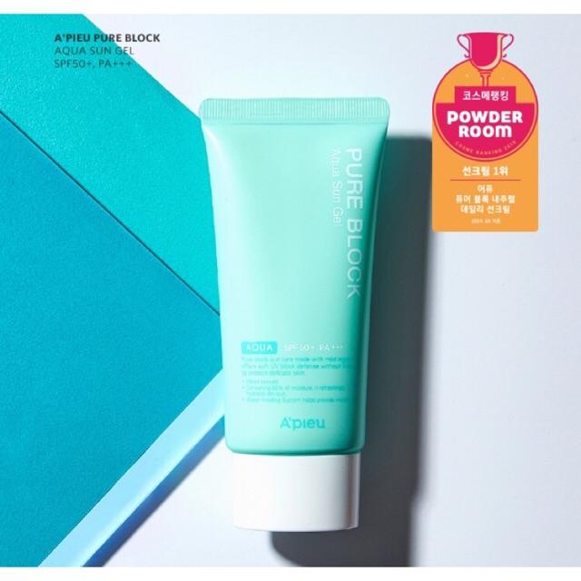 A'pieu pure block aqua sun gel SPF 50+ PA +++