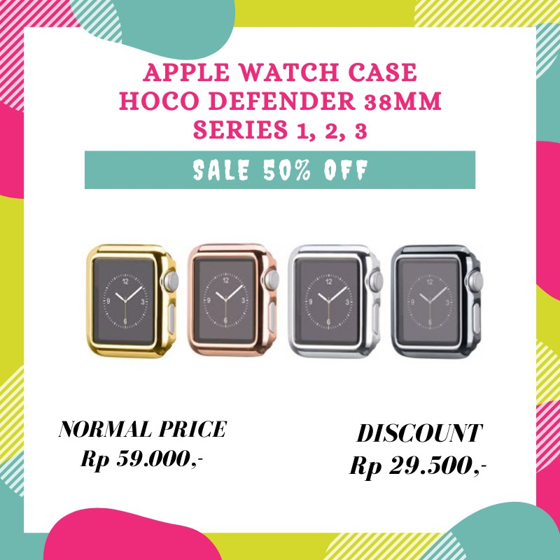 Hoco Case Bumper Defender Series Tarnish Silver Gold Rose Gold For Apple Watch 42mm 38mm Shopee Indonesia