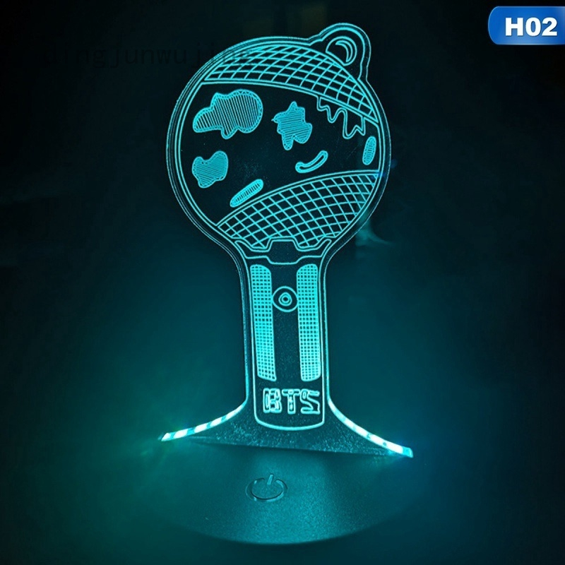 Kpop Bts Bangtan Boys 7 Colors Change Led Night Light Usb Battery Led Lamp Night Light Gift Shopee Indonesia
