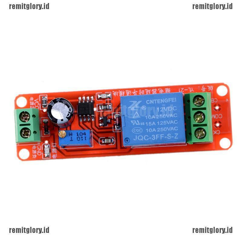 12V Power-delay Relay Timer Switch Circuit Module Better Than NE555 Chip