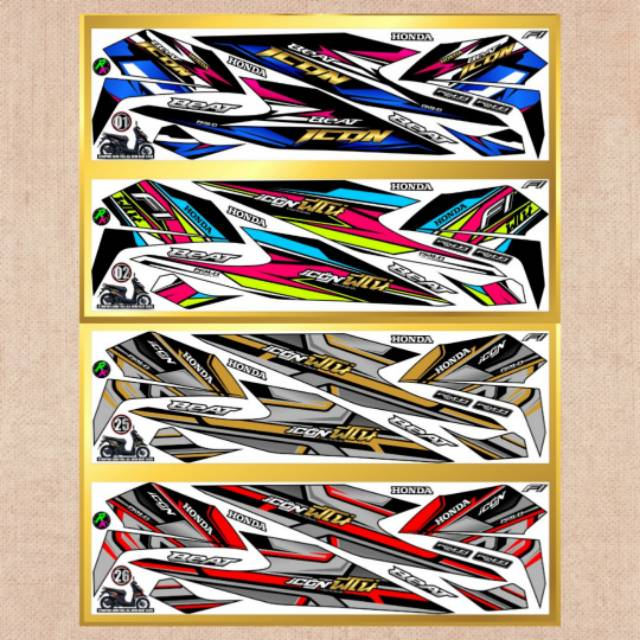Sticker Striping Variasi Thailand Thailook New Beat Fi 2020 New Beat Street 2020 New Honda Icon 2 Shopee Indonesia