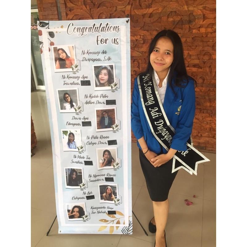 X Banner 160x60cm Free Design Cetak Stand Shopee Indonesia
