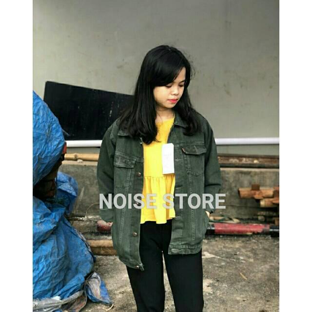 Jaket Jeans Big SIze Oversize Levis Hijau Army Premium   Shopee Indonesia