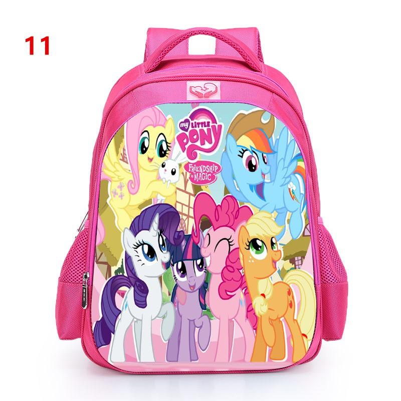 Tas Ransel Sekolah Motif Kartun My Little Pony Lucu Untuk Anak Perempuan Asd1164 Shopee Indonesia