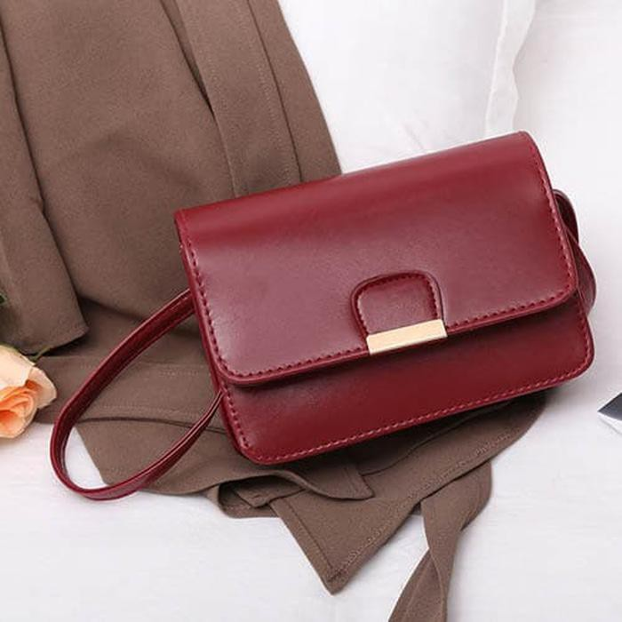 tas selempang fashion wanita sling bag messenger simple korea (3B3) bta338   Shopee Indonesia
