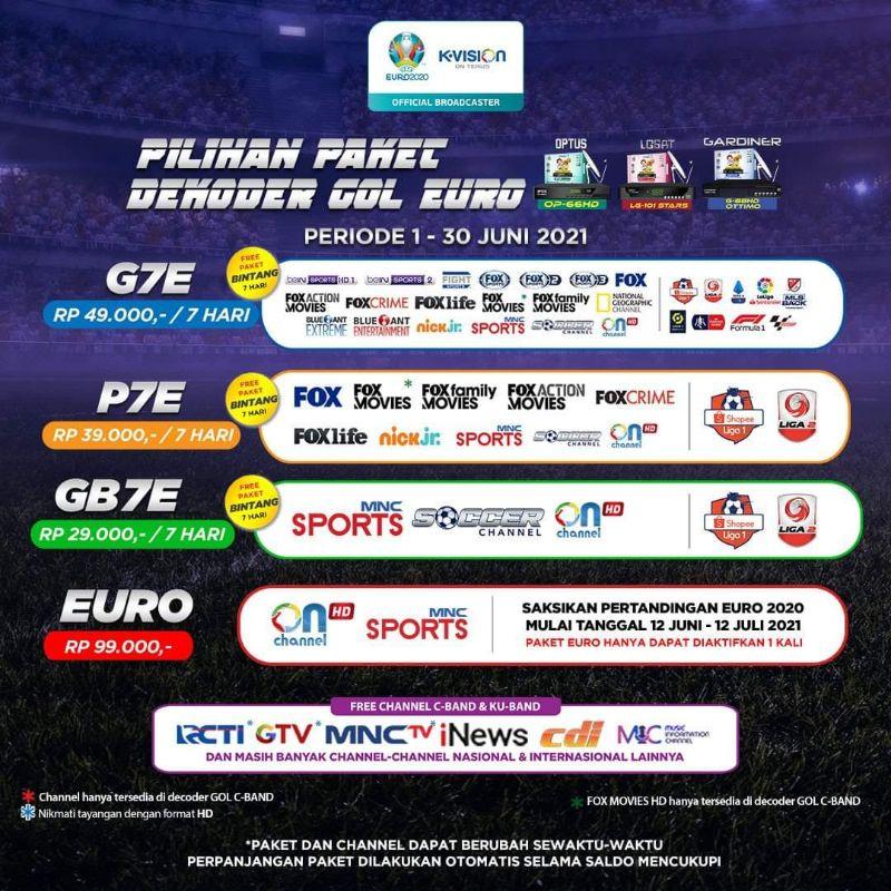 Paket K-Vision GOL Paket Euro