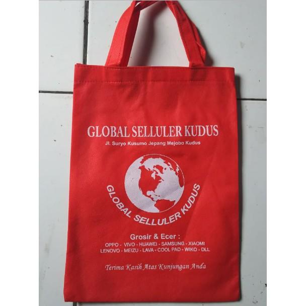 Grosir Totebag Tote Bag Pouch Tas Promosi Tas Untuk Toko Konter Outlet Hp Optik Butik Dll Sablon Shopee Indonesia