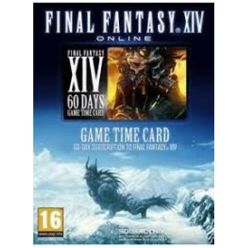 FINAL FANTASY XIV 60 DAY GAME TIME CARD