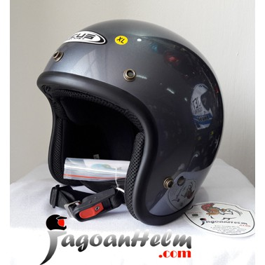 Promo ZEUS Helm ZS385 SOLID ZS 385 Import ZS 385 RETRO Classic Half Face | Shopee Indonesia