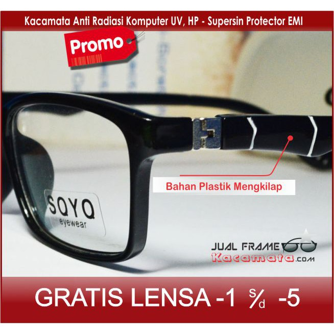 frame kacamata minus wanita (frame+lensa) lives 1008 anti radiasi kaca  2fe7a16d88