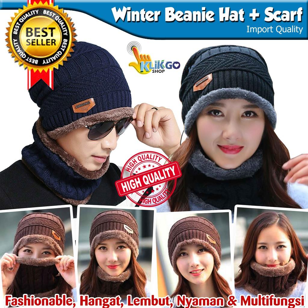 Bayar di Tempat Knit Hat Topi kupluk ski hangat rajut musim dingin untuk  pria-wanita unisex  ea57147856
