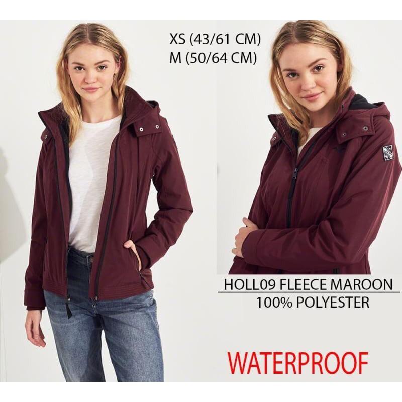 Jaket Branded Wanita - HOLLISTER 09 FLEECE MAROON  f2d0a378d7
