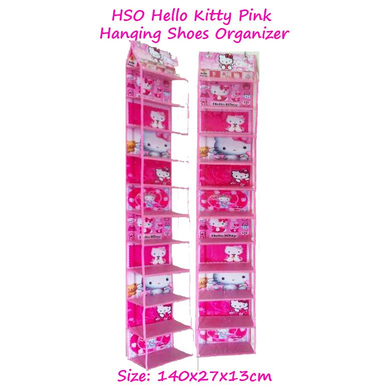 HSOZ Hello Kitty Hijau (Hanging Shoes Organizer Zipper) Rak Sepatu Gantung Karakter Retsleting | Shopee Indonesia