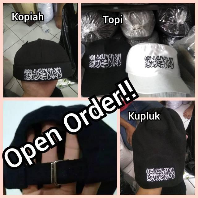 Topi Tauhid Ar Raya Laillahaillallah Al Liwa Hijrah Muslim Peci | Shopee Indonesia