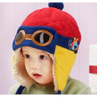 Topi Model Aviator/Pilot Bahan Rajut Motif Beruang untuk Bayi/Anak .