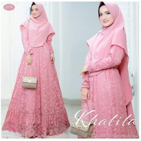 Gamis Syari Baju Gamis Wanita Terbaru Baju Muslim Wanita Gamis Syari Baju Gamis Brokat Model Diskon Shopee Indonesia