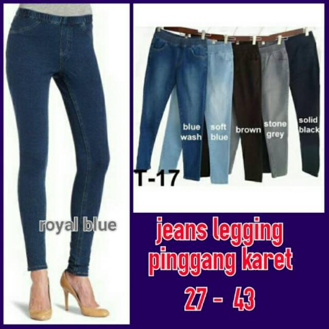 Celana Soft Jeans Legging Pinggang Karet Grosir Shopee Indonesia