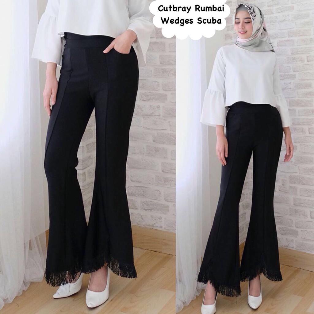100+  Celana Bahan Model Cutbray Paling Bagus Gratis