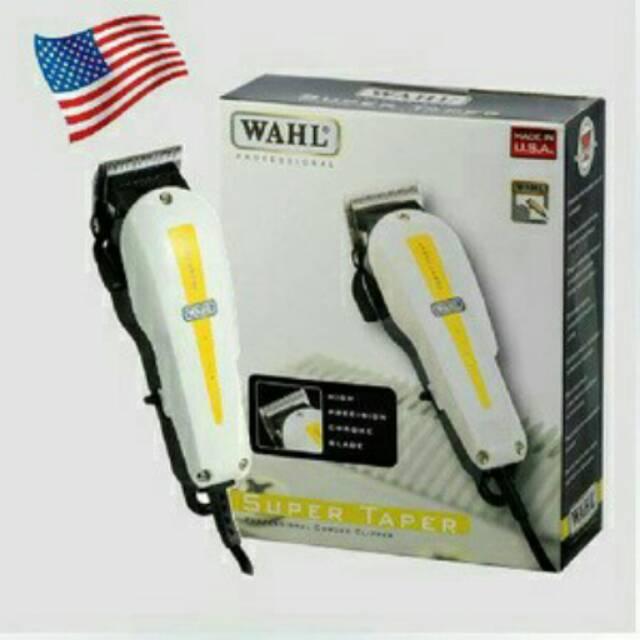 Alat cukur pisau cukur rambut cliper.WAHL SUPER TAPER.MADE IN USA 4 MATA  PISAU Tidak berisik.  57d5b5653a
