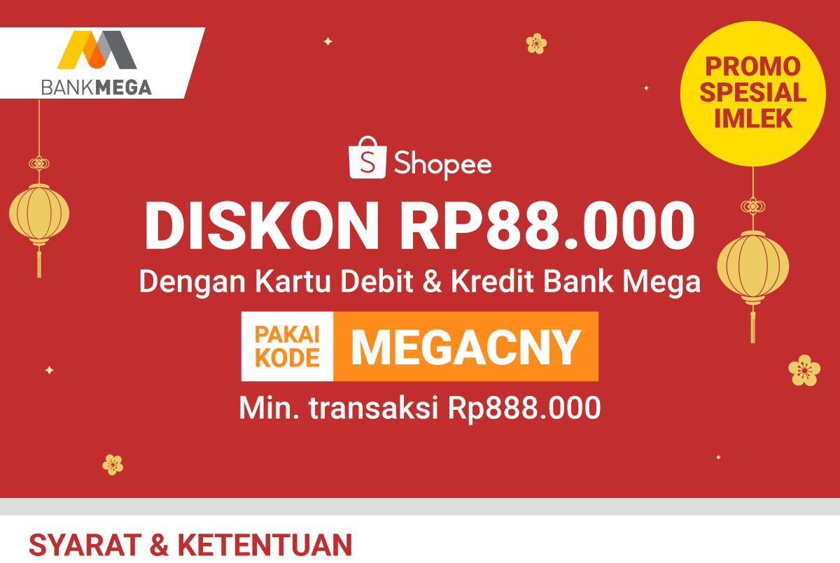 Diskon 88rb Pakai Kartu Debit Dan Kredit Bank Mega