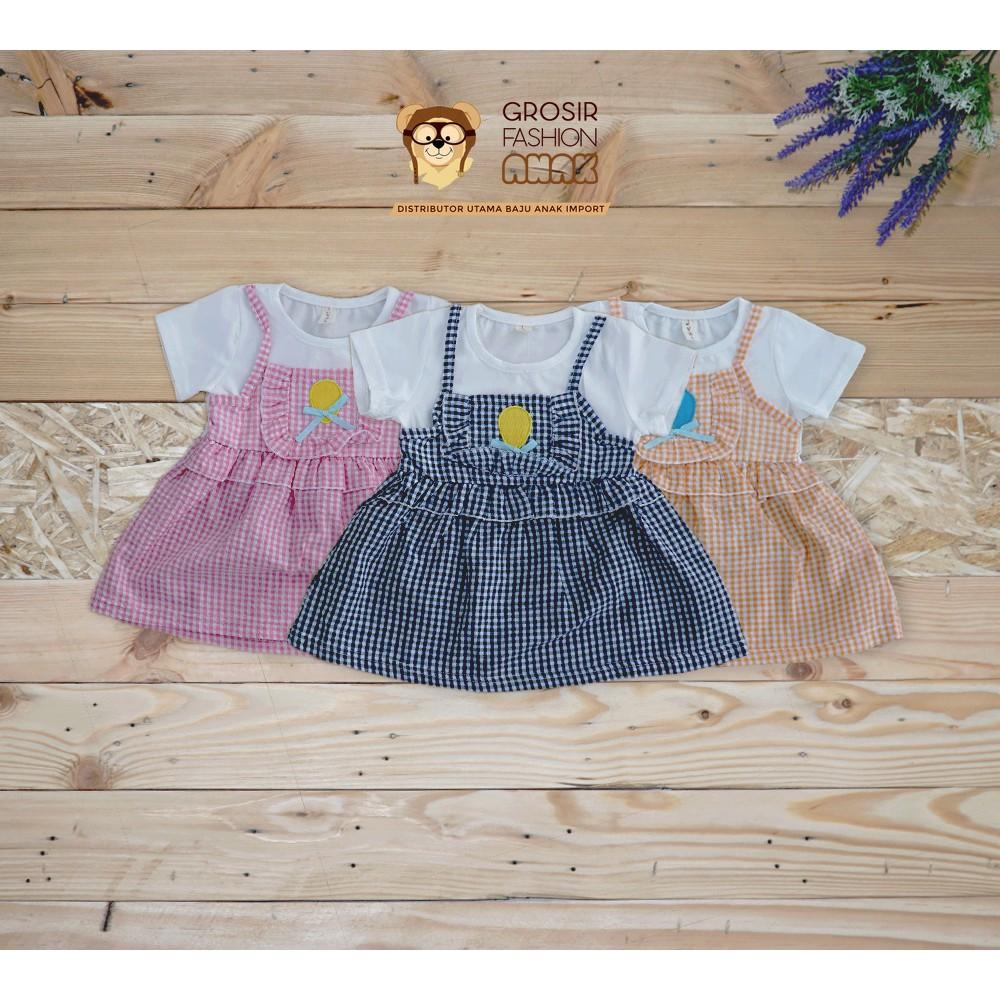 ... GAUN HARIAN ANAK SABRINA GROW GOWN DRESS CLOTHES SABRINA CHILD POLKADOT. Baju Atasan Dress bayi balita unicorn little pony kirana   Shopee Indonesia