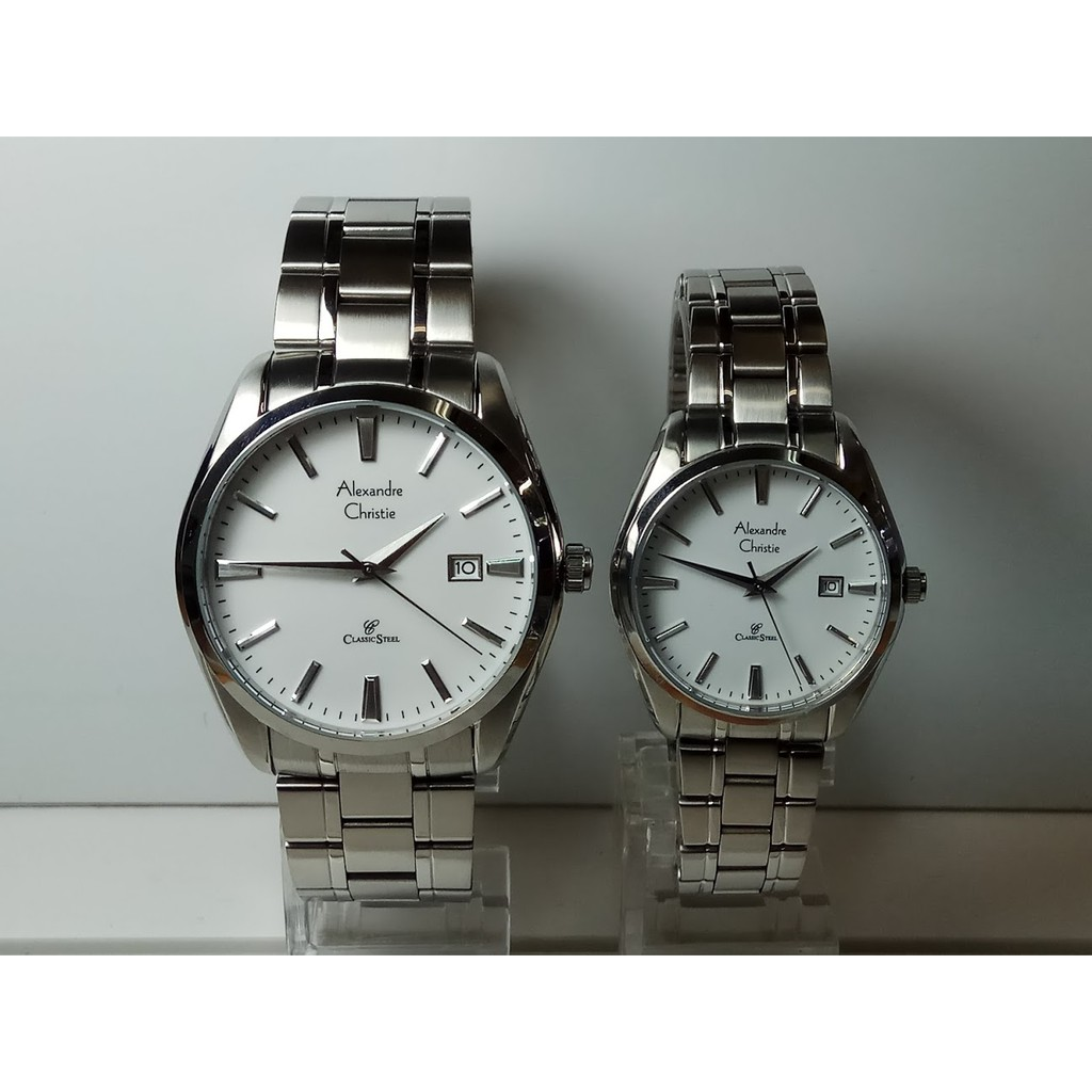 Alexandre Christie Classic 8495 Jam Tangan Couple Silver White Ac Black Gold Ac8530mdld Stainless Steel Dial Shopee Indonesia