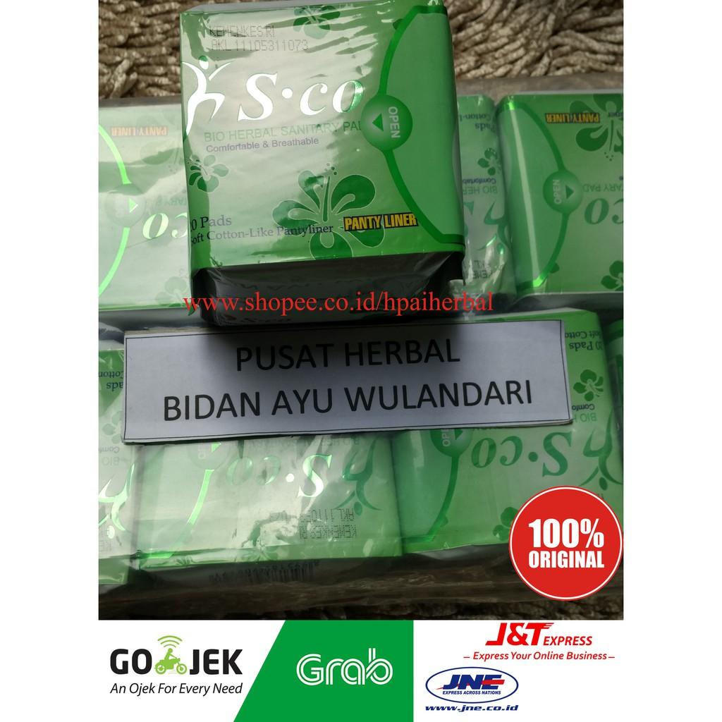 Sco Pembalut Herbal Shopee Indonesia Day Use Biru