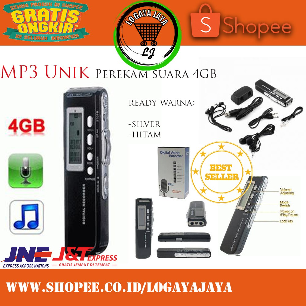 Digital Voice Recorder Alat Perekam Suara Mp3 Unik 8gb Bisa Original Terlaris Shopee Indonesia