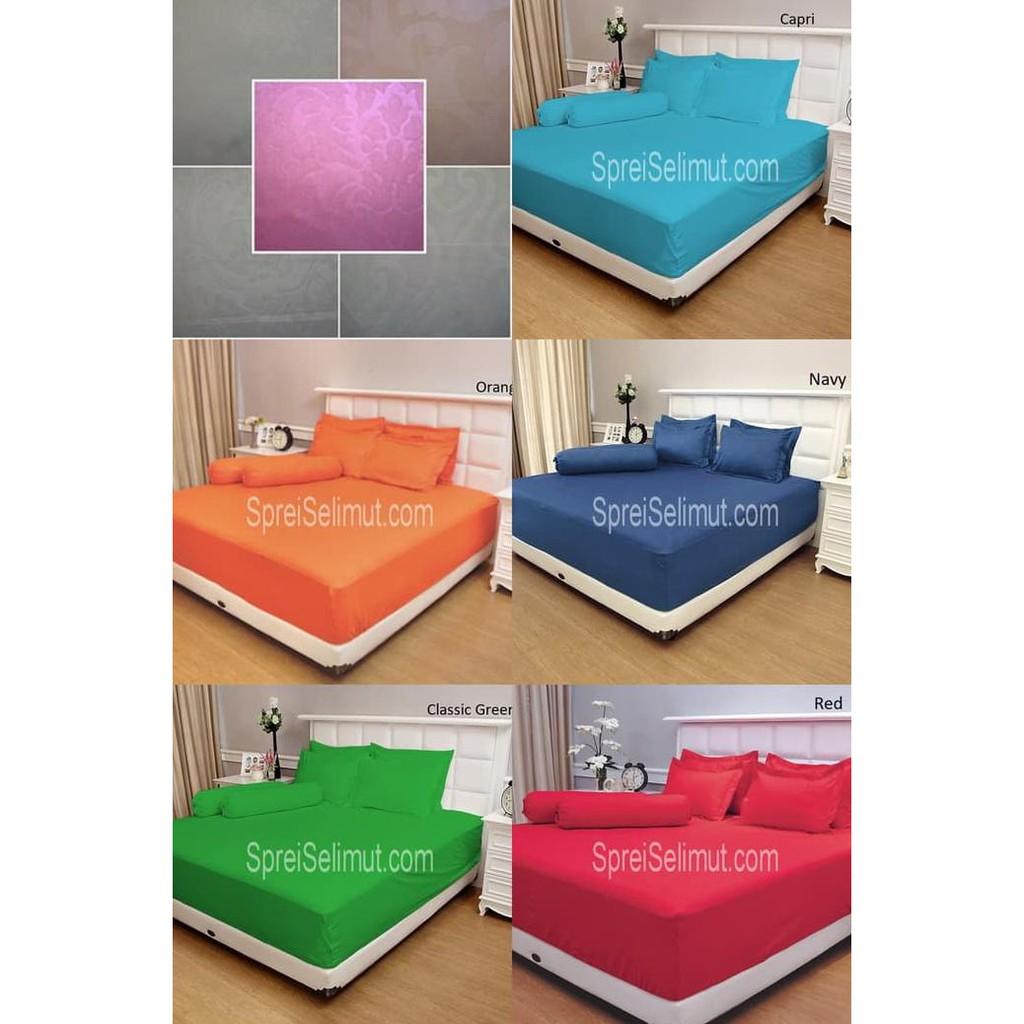 Custom Bed Cover Bahan Katun Jepang King Koil Shopee Indonesia Sprei Import  Uk 180x200 953