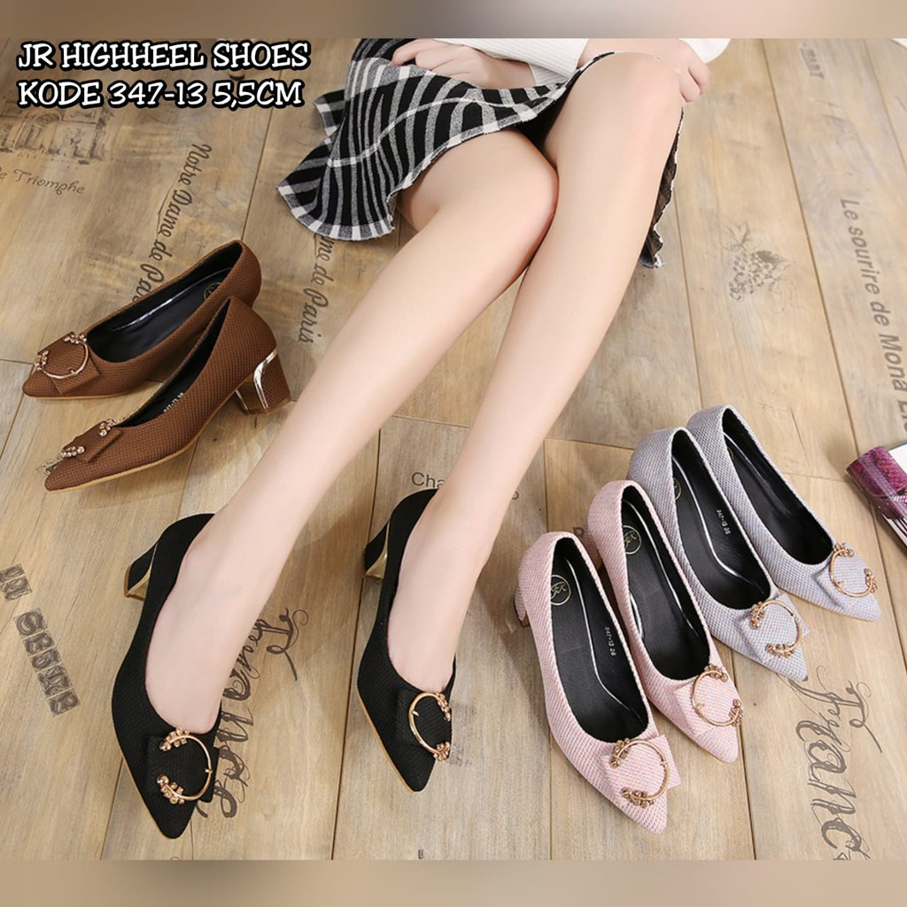 Jr Highheel Shoes 666 5 Shopee Indonesia Amazara Kendall Black Heels Hitam 39