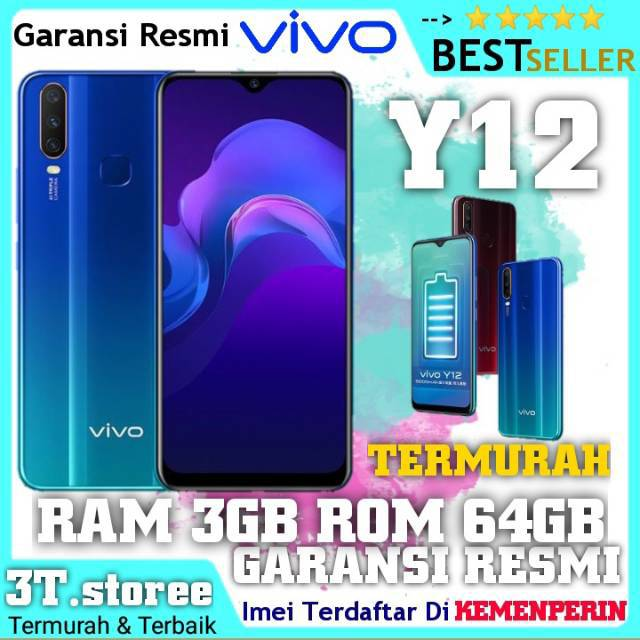 VIVO Y12 RAM [3/64GB] [3/64GB] ORIGINAL VIVO BERGARANSI RESMI