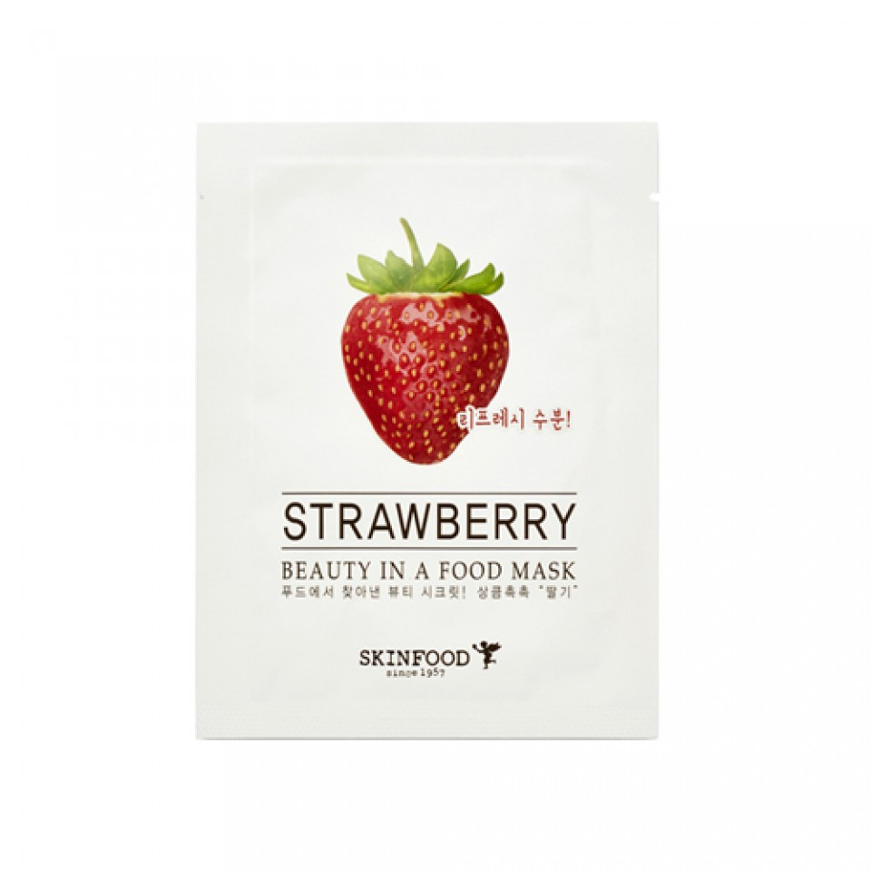 Skinfood Strawberry Mask Wash Off Shopee Indonesia Masker Beras