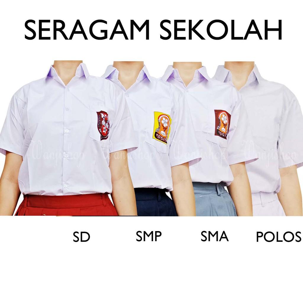 Seragam Sd Smp Sma 6 20 Baju Sekolah Kemeja Setelan Koko Anak Rbj477 Shopee Indonesia