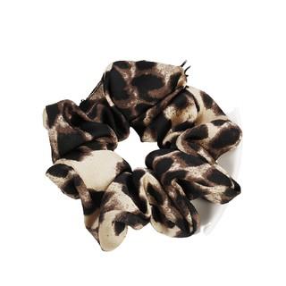 Ikat Rambut Bahan Kain Motif Leopard Gaya Kasual thumbnail