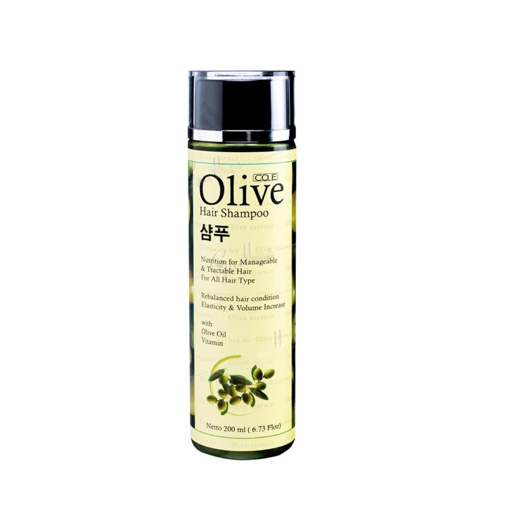 SYB CO.E Olive Hair Treatment - Shampoo Conditioner Tonic Black Kemiri Oil Mask Serum Kids-Olive Hair Shampoo