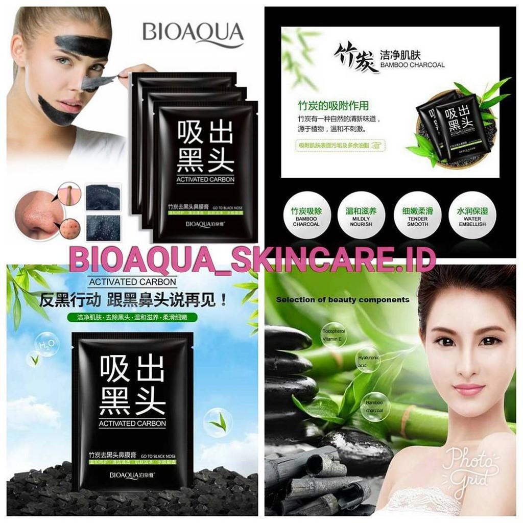 Bioaqua Activated Carbon Charcoal Remove Blackhead Mask Black Shopee Indonesia