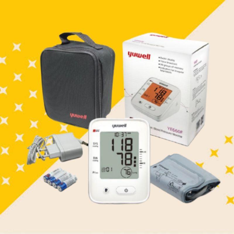 tensimeter alat tensi digital yuwell YE 660 F alat ukur tekanan darah medis