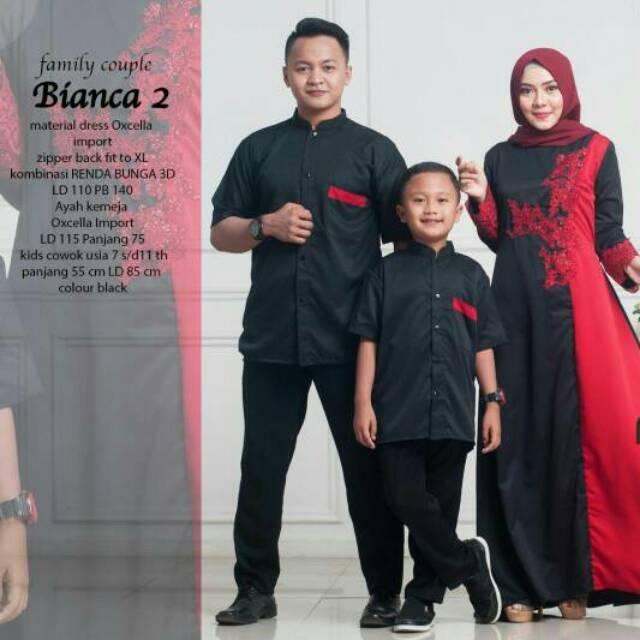 BAJU SARIMBIT COUPLE POLOS IBU AYAH ANAK BIANCA ORI NAJWA | Shopee Indonesia