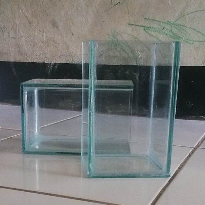 Akuarium Soliter Akuarium Ikan Cupang Bahan Kaca Ukuran 10x10x15 Shopee Indonesia