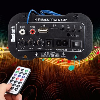 5 Inch 220V Amplifier Stereo Digital HiFi Bass Power dengan Bluetooth+Port USB/TF+Remote Control