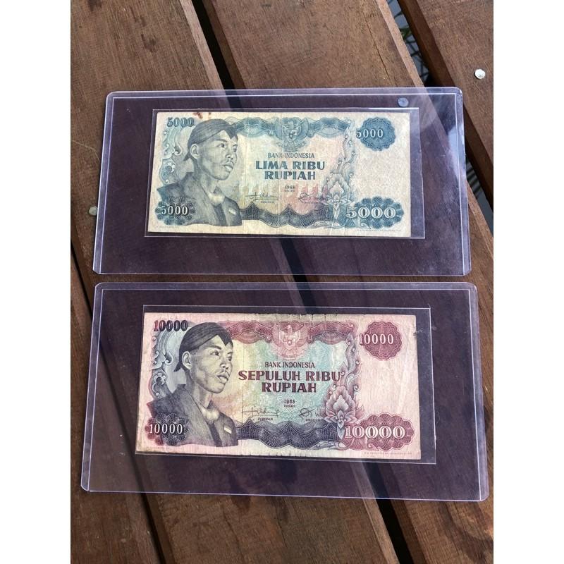Uang Kuno 5000 Sudirman dan 10000 Sudirman VF Sepasang ORIGINAL