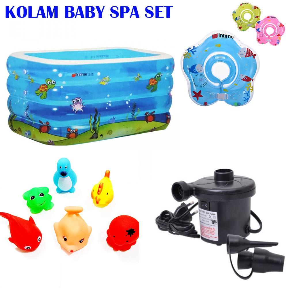 Je Set Kolam Renang Baby Spa Intime Y213a Original Fish Bayi Pompa Elektrik Intex Swim Center See Through Round Pool 57489 Blue Inflatable Swimming Anak Shopee Indonesia