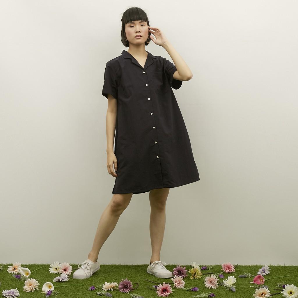 WFH Clothing Polyester Arka Tunic Navy - Dress  Wanita Casual