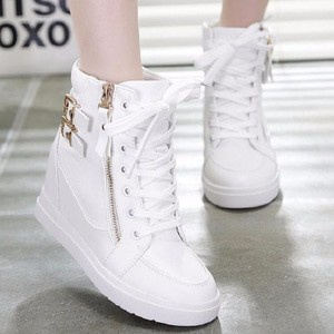 Lucky6 SEPATU BOOT WEDGES ZR30 PUTIH Boots & Ankle Boots