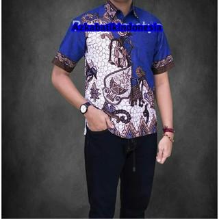 Jual Baju Batik Pria Baju Batik Modern kemeja batik pekalongan hem batik  kemeja motif Wayang Blok 4 0625c49779