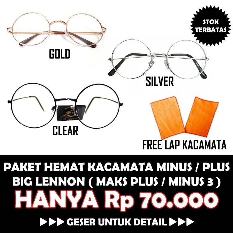 TERMURAH !!! Kacamata gaya minus plus silindris cewe cowo pria wanita  kantor resmi round bulat big  c31d6e6262