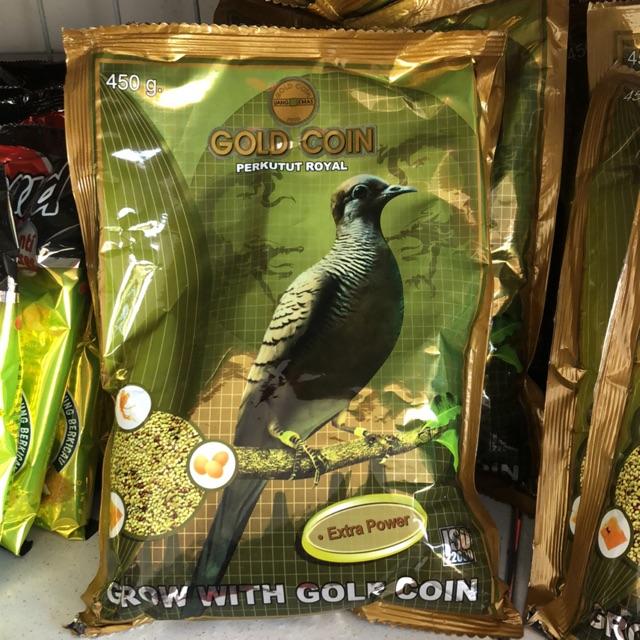 Pakan Burung Perkutut Gold Coin Besar Shopee Indonesia