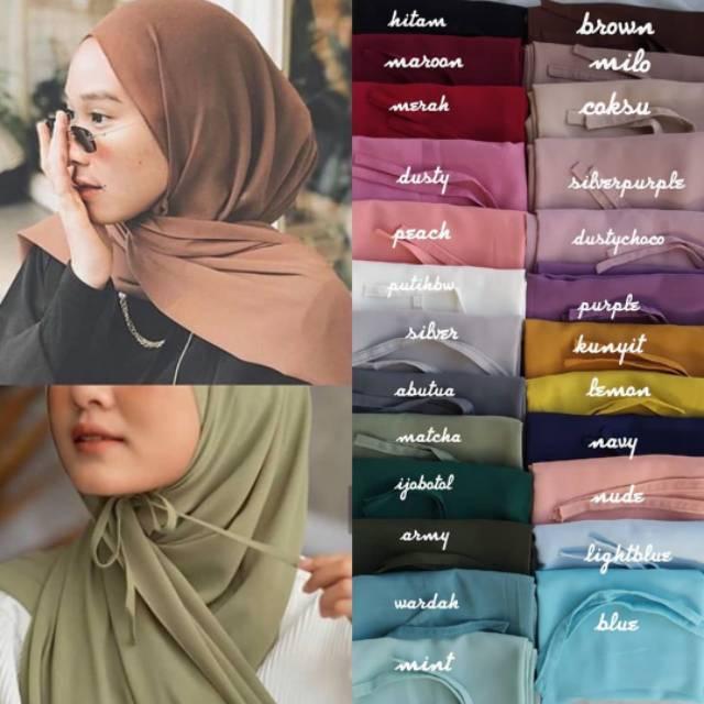 Hijab Pashmina Diamond Screpe Tali Instan Pasmina Tali Kekinian Shopee Indonesia